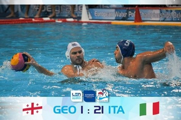 Италия – Грузия 21:1 (5:1, 6:0, 6:0, 4:0)
