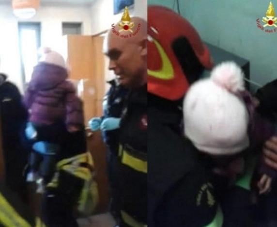 Итальянские спасатели освободили ребенка, запертого в банковском сейфе