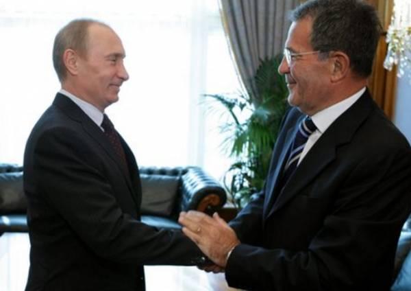 Владимир Путин встретился с экс-премьером Италии Романо Проди
