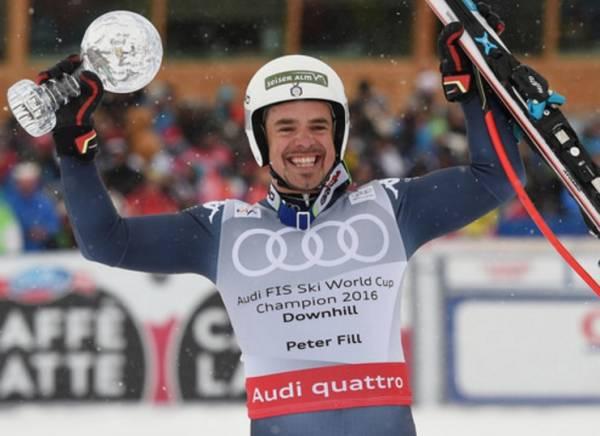 Итальянский горнолыжник выигрывает «Хрустальный глобус»