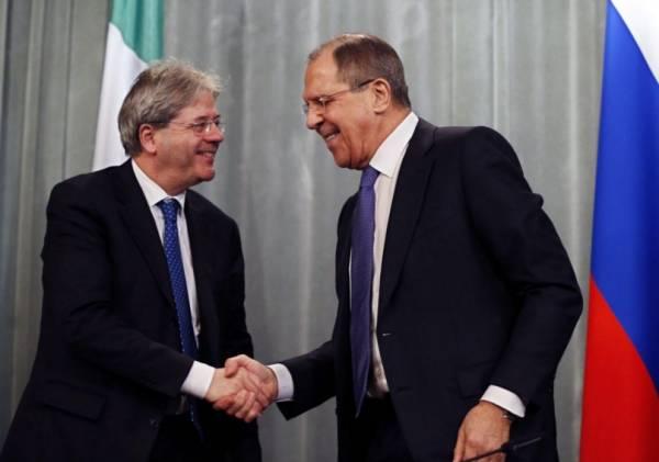 Глава МИД Италии Джентилони посетил Москву