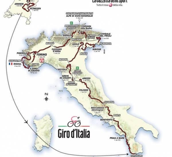 Первые три этапа Джиро пройдут в Голландии