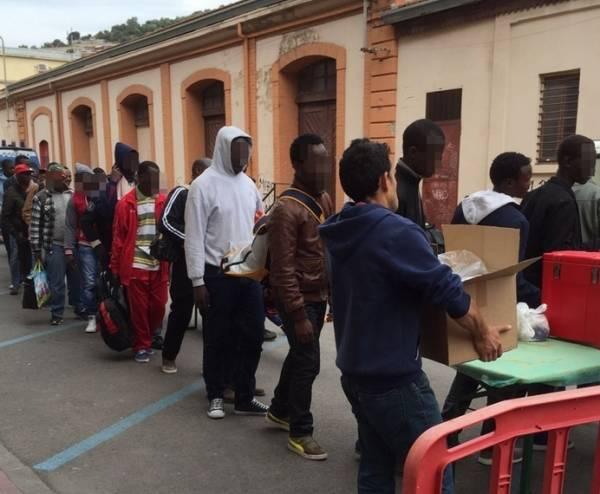 Эмигрантский центр в Вентимилья закрыт