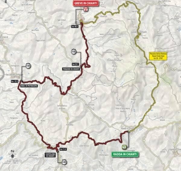 Стартовал этап в Радда-ин-Кьянти, находящемся в 60 км от Флоренции