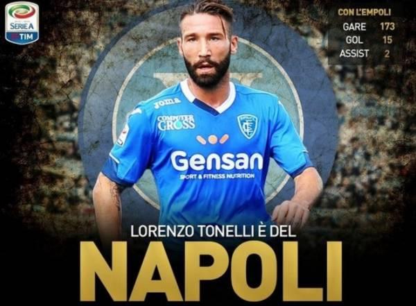 пополнившим состав «азурри» стал центральный защитник Лоренци Тонелли