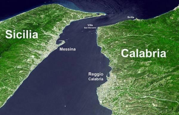 Итальянцы хотят соединить Сицилию и Калабрию канатной дорогой