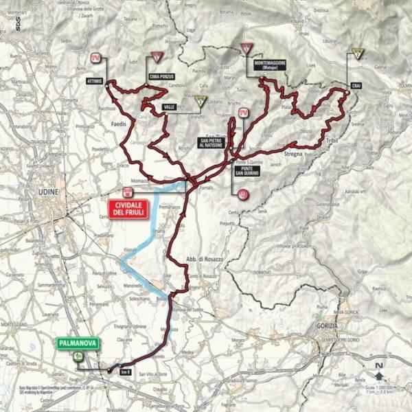 стартовый городок 13 этапа Джиро д'Италия – 2016 – Пальманова