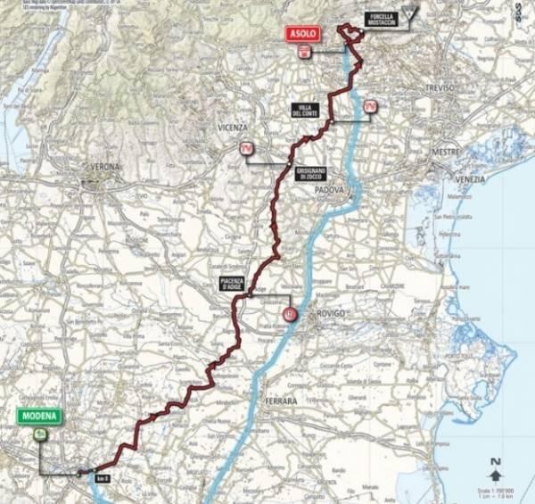Финиш 11 этапа прошел в небольшом городе Азоло