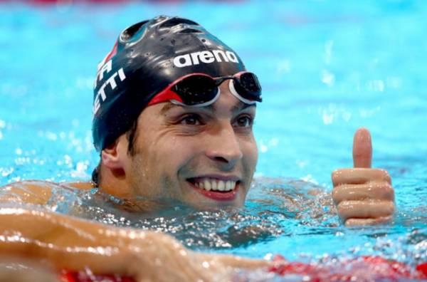 Дистанцию 400м. вольным стилем выиграл Габриэле Детти
