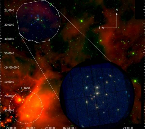 Итальянские астрономы нашли новые звезды в туманности Ро Змееносца