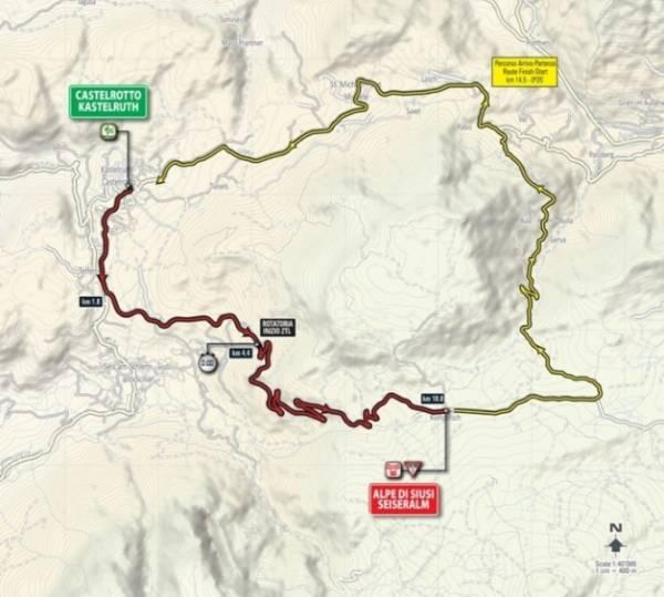 На старт участники Джиро вышли в небольшой деревне Кастельротто