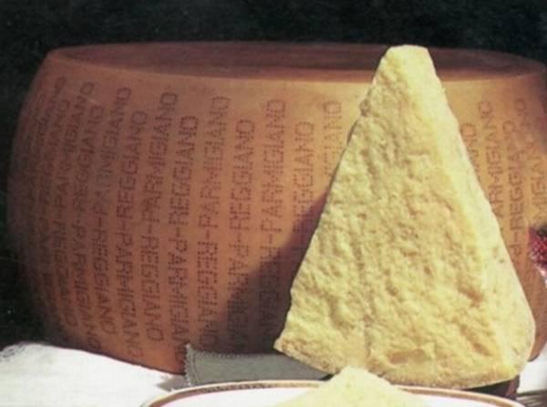 итальянских сыров - пармиджано реджано