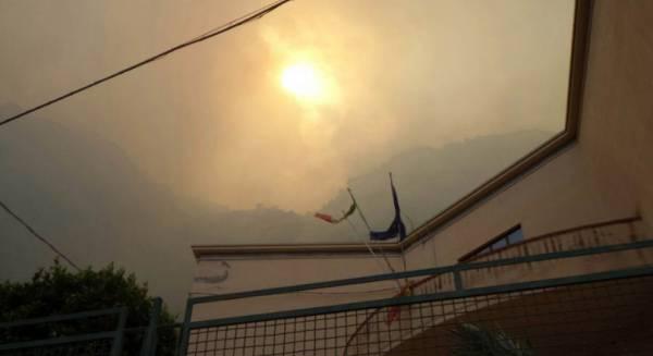 Пожары в Палермо