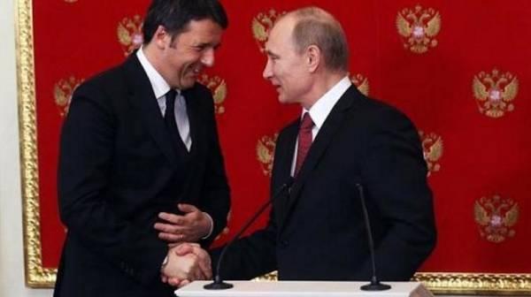 премьер-министра Италии Маттео РЕНЦИ, находится в Санкт-Петербурге