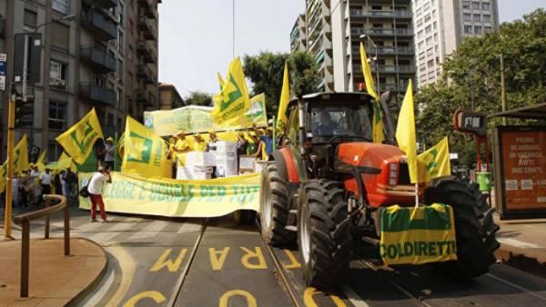 Итальянские фермеры понесли 600 млн евро убытков от эмбарго