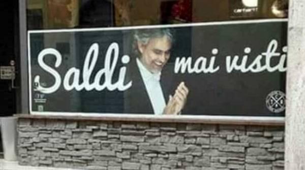 Образ слепого певца Андреа Бочелли нагло использовал магазин одежды