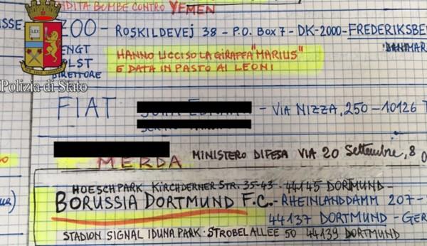 Итальянская пара отправила тысячи писем с угрозами