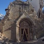 Новое землетрясение в городе Аматриче, провинции Риети