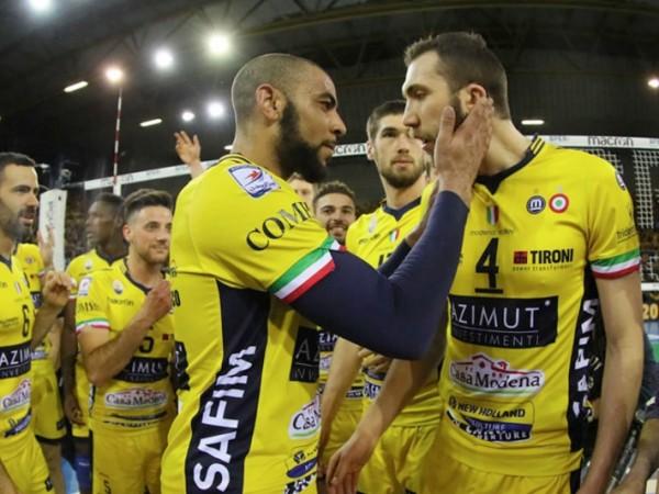 Волейболисты из Модены вырвали второй сет