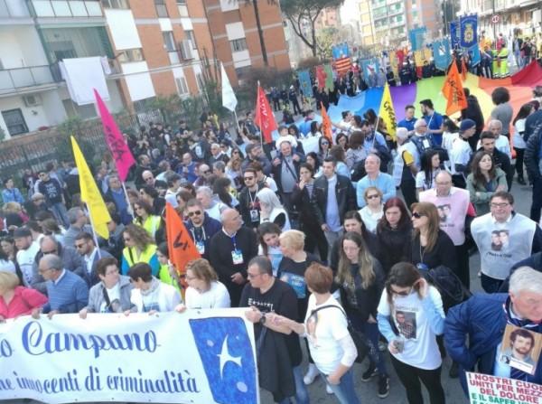 Неаполь, Понтичелли: манифестация в память невинных жертв мафии