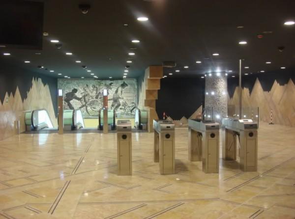 Неаполь метро - станция Толедо