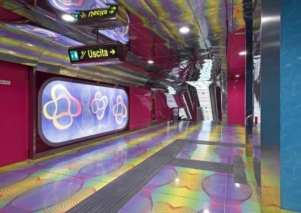 Центральная линия № 1 неаполитанского метро - stazione Universita
