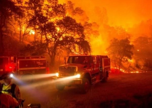 Сильный пожар в выходные на Сицилии