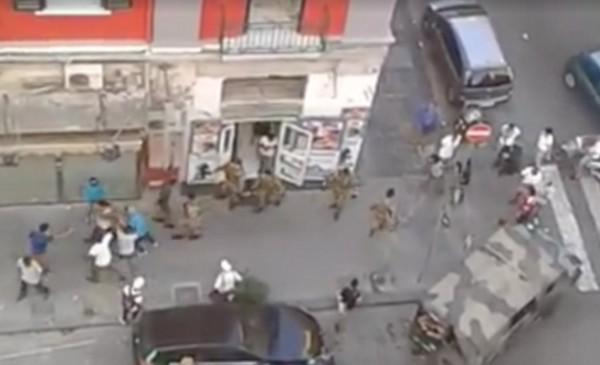 в Неаполе произошло столкновение военного патруля с мигрантами