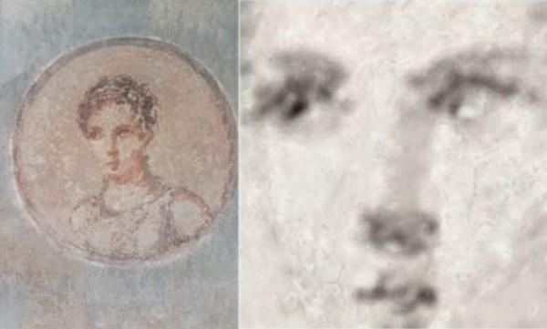 В Геркулануме, разрушенный Везувием, восстановлен портрет двухтысячеле