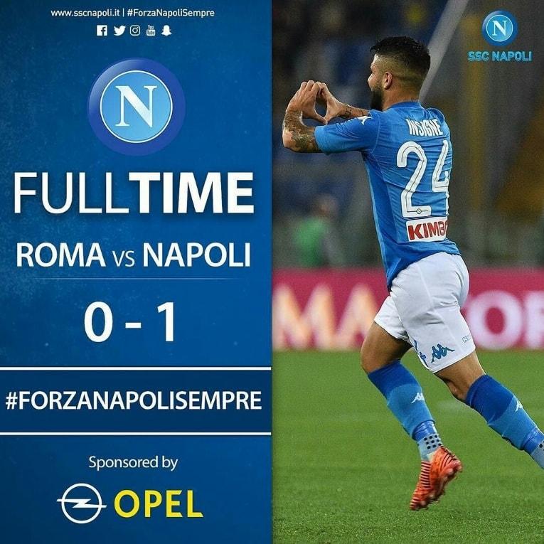 «Наполи» одержал восьмую победу подряд всерии А, обыграв «Рому»
