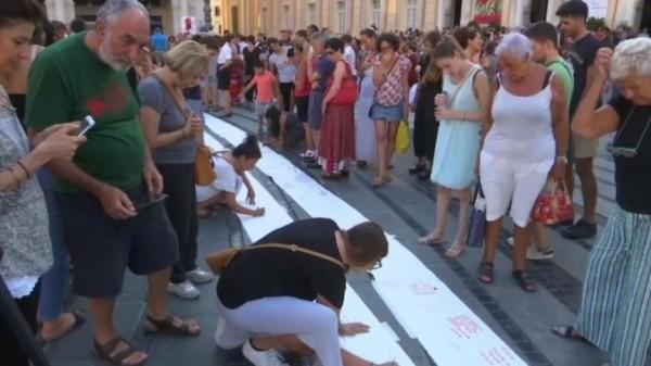 В Генуе прошла акция в память о погибших «Показать гнев и боль мирным