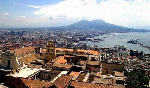 Взглад на Везувий из Неаполя