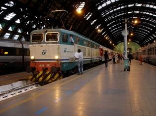 В железнодорожном транспорте Италии