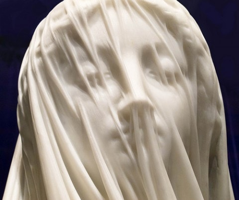 Blessed Virgin Mary in marble
