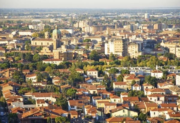 Город Равенна, в итальянском регионе Эмилия-Романья