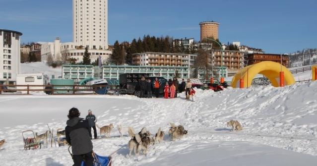 Город Сестриере можно смело назвать спортивным центром Альп