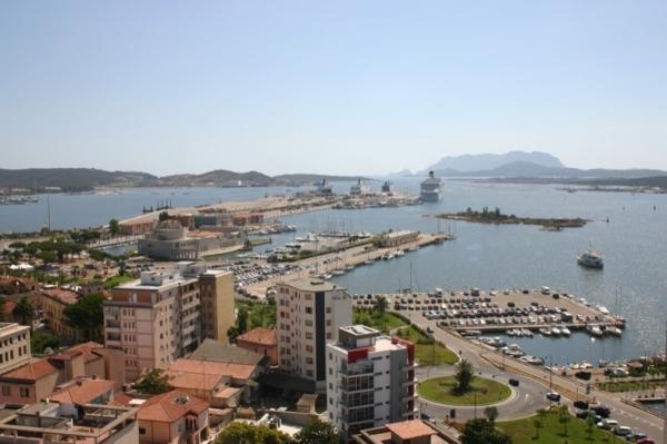 Город Ольбия, столица Галлуры, в итальянском регионе Сардиния