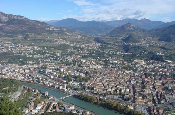Город Тренто, в итальянском регионе Трентино — Альто-Адидже
