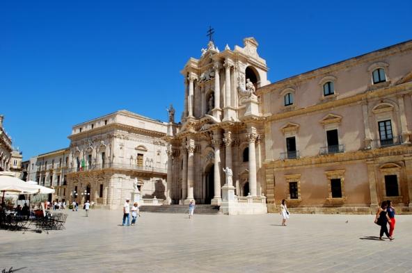 Город Сиракузы, Соборная площадь, выполненная в стиле барокко