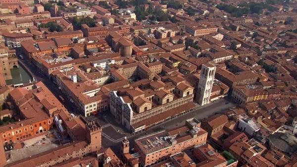 Город Феррара, в итальянском регионе Эмилия-Романья