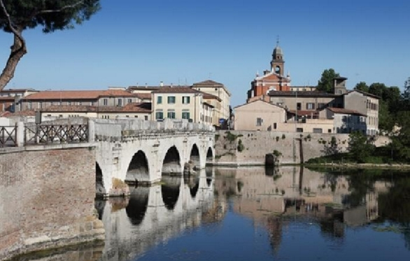 Город Римини - мост Тиберия