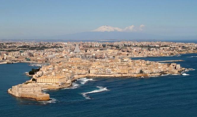 Город Сиракузы, в итальянском регионе Сицилия
