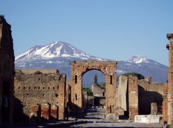 Древнеримский город Помпеи, в итальянском регионе Кампания