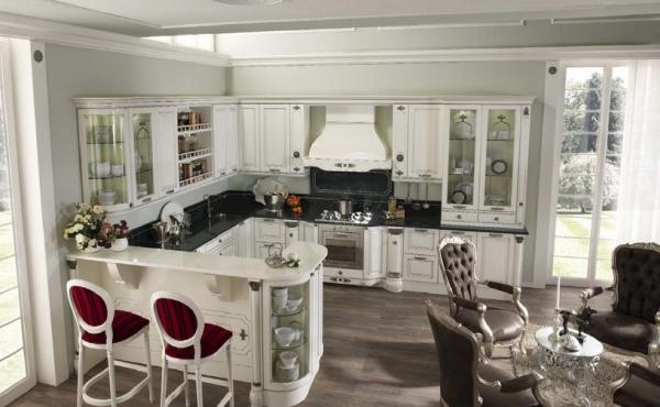 Купить кухни Томасси можно в двух самых популярных стилях мебели