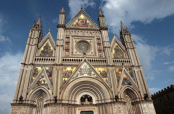 Город Орвието - Центрального Кафедрального собора