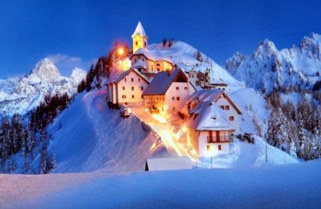 В Италии лыжные трассы и спуски имеют крутой рельеф и самую длинную горную протяжность