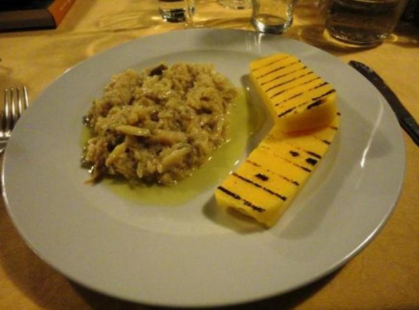 Местная кухня, город Виченца треска с полентой