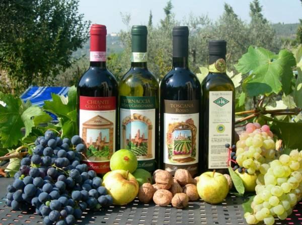 Стоит не пройти мимо и итальянских вин разных сортов