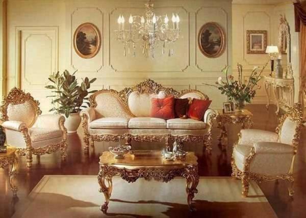 роскошный барокко об итальянской гостиной