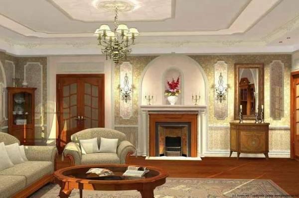 Очень хорошо в комнате, выполненной в итальянском стиле